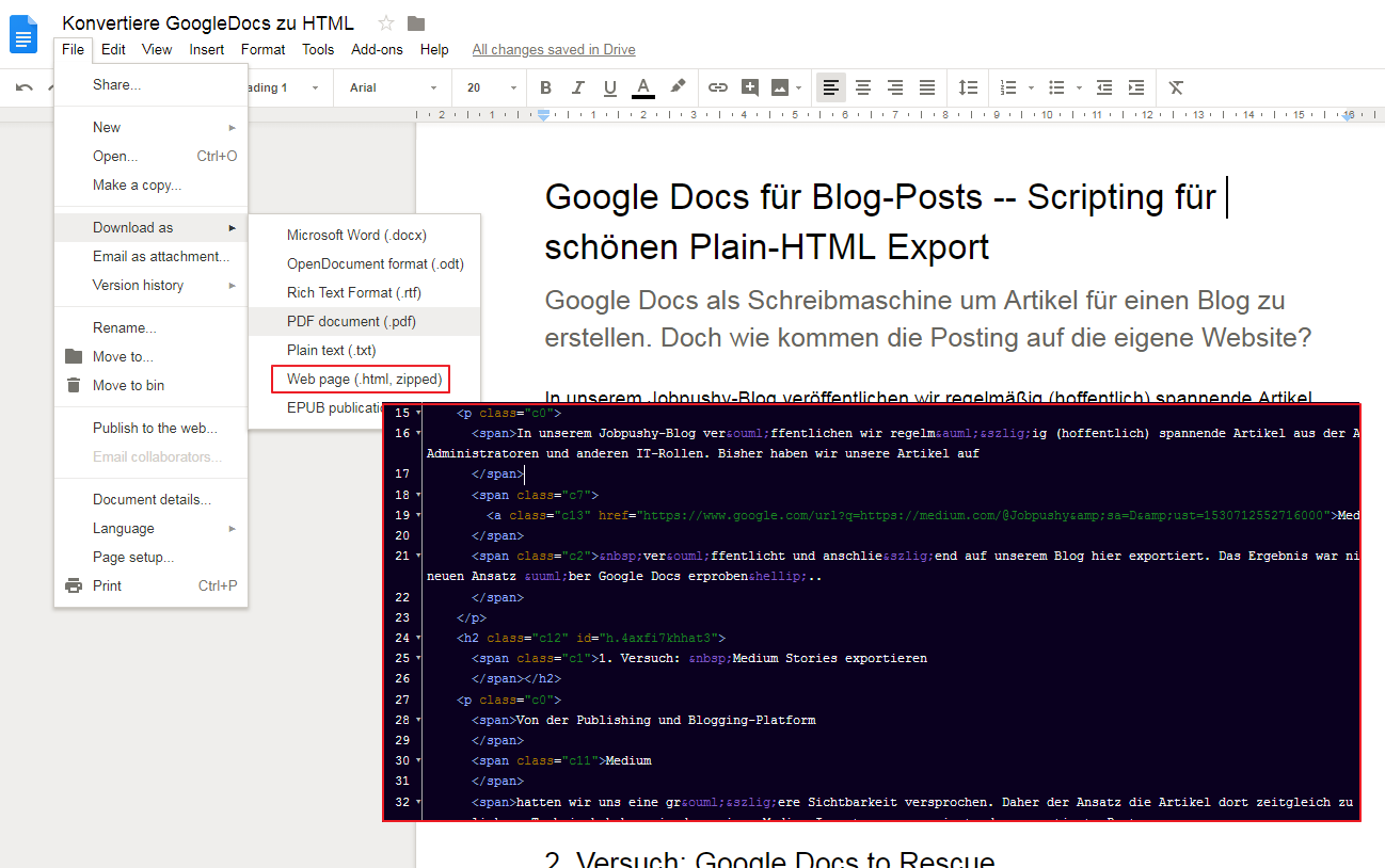 Google-Doc-Html-Export