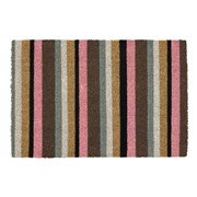 Jvl Pink Stripe Latex  Coir Mat 40x60c (02-814)