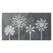 Jvl Solemate Hand Carved Mat Flowers 57x100 (01-463)