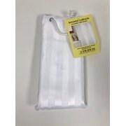 Manna Satin Stripe Shower Curtain White (001-030)