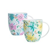 Price & Kensington B/china Tropical Floral Mugs (0059.143)