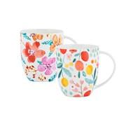 Price & Kensington B/china Fruit & Flora Mugs (0059.144)