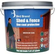 Bird Brand Shed&fence Medium Oak 5lt (0076)