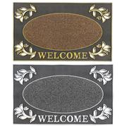 Jvl Welcome Rectangular Pvc Pin Doormat 45x75 (01-921)