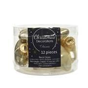 Glass Mini Stars x 12 Champagne Shiny/matt (012242)