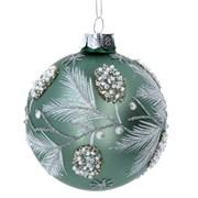 Gisela Graham Sage Glass Berry Ball (01288)