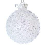 Gisela Graham White Beaded Glass Ball W/pearls (01640)