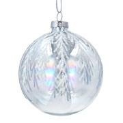 Gisela Graham Soap Glass Bauble Silver Glitter (01809)