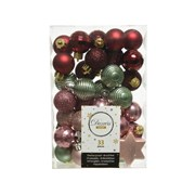 Shatterproof Baubles Mix x33 Pink Forest (020153)