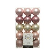 Shatterproof Baubles Mix X 30 Pink /colours 6cm (020201)