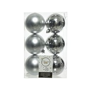 Shatterproof Baublesx 6 Silver 8cm (022051)