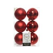 Shatterproof Baublesx 6 Christmas Red 8cm (022052)