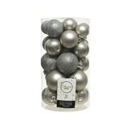 Shatterproof Baubles x30 Misty Grey Asst (022905)