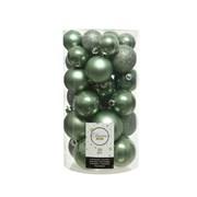 Shatterproof Baubles x30 Sage Green Asstd (022908)