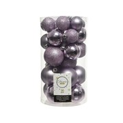 Shatterproof Baubles x30 Frosted Lilac Asstd (022911)