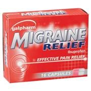 Galpharm Ibuprofen Migraine Relief Caplets 16s (GMI)