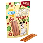 Goodboy Superlicious Chicken Apple & Cranberry Sticks 100g (05101)