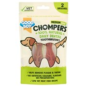 Goodboy Chompers Medium Dental Toothbrush 70mm 2pk 70g (05204)