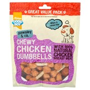 Goodboy Deli Treats Chewy Chicken Dumbbells 350g (05629)