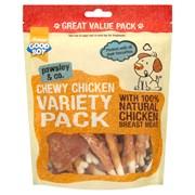 Goodboy Chewy Chicken Variety Pack Dog Treats 320g (05653)