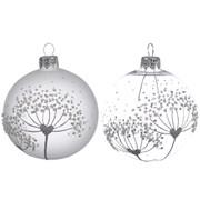 Glass Deco Bauble Flower 8cm (057273)