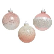 Bauble Glitter Blush Pink 8cm (060593)