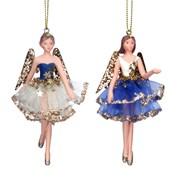 Gisela Graham Resin Fairy Dec Cream/blue/gold 3 Asstd (10132)