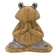 Smart Solar Wood Stone In-lit Frog Figurine (1020914)