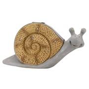 Smart Solar Wood Stone In-lit Snail Figurine (1020920)