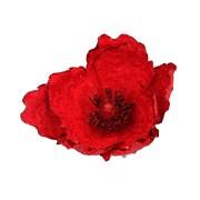 Gisela Graham Red Fabric Magnolia Clip Clip (10366)