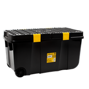 Wham Diy Tough Cart Blk With Yellow Clips 100ltr (Z10613)