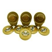 Just Pudding Basins Basin & Lid Gold 1pt (109 GOLD)