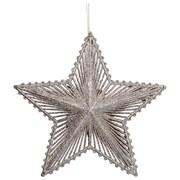 Gisela Graham Pale Gold Glitter Star Large (11023)