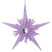 Gisela Graham Lilac Glitter/diamante 3d Star (11085)