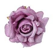 Gisela Graham Lilac Fabric Rose Clip (12198)