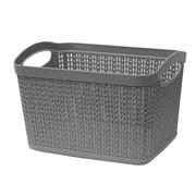 Jvl Loop Rectangle Storage Basket Grey 6.6ltr (13-353GY)