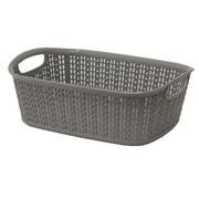 Jvl Loop Rectangle Storage Basket Grey 3ltr (13-354GY)