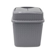 Jvl Knit Push Top Bin Grey 10ltr (13-357GY)