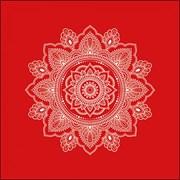 Ambiente Napkin Mandala White/red (13315166)