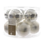 Glass Baublesx10 Silver 60mm (140132)