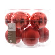 Glass Baublesx10 Christmas Red 60mm (140138)