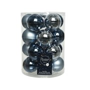 Glass Baubles x 20 Blue Mix 6cm (142241)