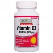 Natures Aid Vitamin D3 4000iu 60s (150120)