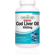 Natures Aid Cod Liver Oil High Strength 1000mg 90s (15122)