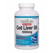 Natures Aid Cod Liver Oil High Strength 1000mg 180s (15142)