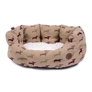 Country Dog Deli  Oval Dog Bed Small (15199)