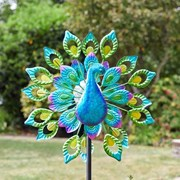 Smart Solar Wind Spinner-peacock (5030045)