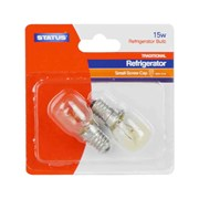 Status 15w E14 Clear Fridge Light Bulb 2pk (15SFSESCB216)