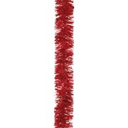 Festive Tinsel Chunky Cut Red 200cm x 10cm (160815)