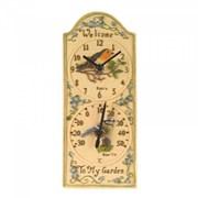 "Smart Garden Robin Wall Clock & Thermometer 12"" (5064002)"
